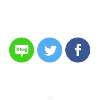 블로그,트위터,페이스북을통해 다양한 바이럴 마케팅을 하고 있는 미쓰G의 이야기의 일러스트입니다.